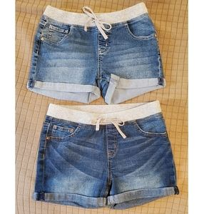 2 PAIRS of Girls Denim Shorts from Justice